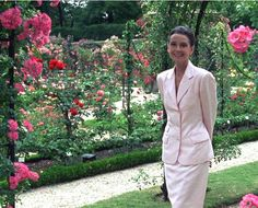 Audrey Hepburn in the garden circa 1991 check out the video Gardens of the World that she narrated.