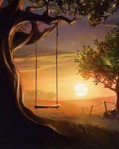 Love old tree swings