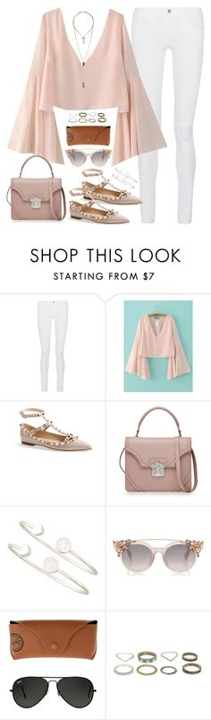 """Untitled#4419"" by fashionnfacts ❤ liked on Polyvore featuring Frame Denim, Valentino, Alexander McQueen, Sarah Chloe, Ray-Ban and Relic"