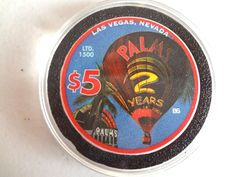 PALMS LAS VEGAS 2ND ANNIVERSARY 2003 (BALLOON) $5 CASINO CHIP