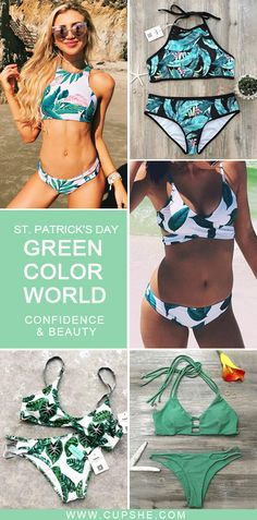 Short Shipping Time! Easy Return + Refund! Green color world around you! Different styles match with different green printing. Pick green one for hot summer!