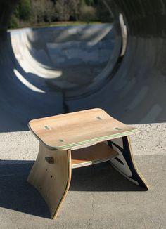 chaise design skate design skate pinterest - Skateboard Bank Beine