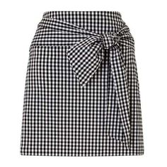 Gingham Poplin Skirt (352890 PYG) ❤ liked on Polyvore featuring skirts, gingham skirt and poplin skirt