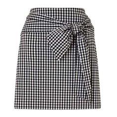 Gingham Poplin Skirt (57 CAD) ❤ liked on Polyvore featuring skirts, gingham skirt and poplin skirt