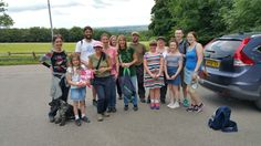 Group shot of the finish line following the Macmillan Cancer Support sponsored walk.