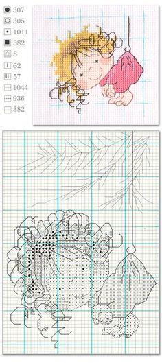 cross stitch cute girl   Welcome Craft
