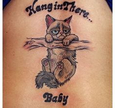 Grumpy cat tattoo! Wow