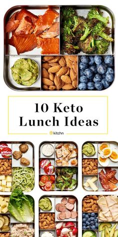 Keto grocery list, food and recipes for a keto diet before and after. Meal plans with low carbs, keto meal prep for healthy living and weight loss. Keto Lunch Ideas, Lunch Recipes, Diet Recipes, Ketogenic Recipes, Healthy Lunchbox Ideas, Dessert Recipes, Chicken Recipes, Lunch Box Meals, Quick Work Lunch Ideas