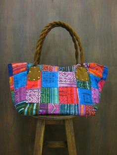 Thai Hmong Embroidered Hand Made Patchwork Boho Bag $30.00 at http://www.suredesigntshirts.com