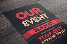 Our Event Flyer PSD Template ~ Flyer Templates on Creative Market