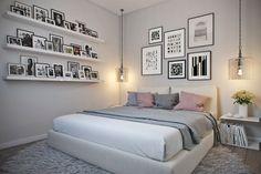 Студия для романтичной девушки. Спальня