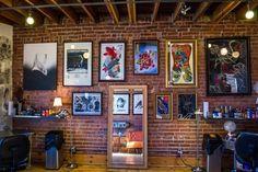 Under My Thumb's Homey Tattoo Studio – Tattoo Styles & Tattoo Placement Dragon Sleeve Tattoos, Tribal Sleeve Tattoos, Thumb Tattoos, Tattoo Station, Best Tattoo Shops, Full Back Tattoos, City Tattoo, Tattoo Parlors, Ink Illustrations