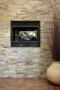 Mixed stone feature wall