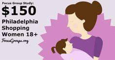Focus Group for Moms on Shopping in Philadelphia  $150 - FocusGroups.org
