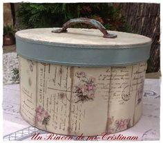 Tutorial decorar caja de cartón redonda en estilo romántico vintage | Hacer bricolaje es facilisimo.com