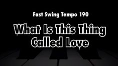 What Is This Thing Called Love - Backing Track [50 Jazz Standards Every ... Jazz Standard, Backing Tracks, Jazz Musicians, Need To Know, 50th, Love, Feelings, Amor