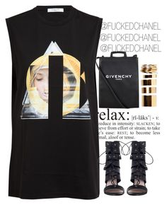 """""""❀ #NEE3ZY ❀"""" by fuckedchanel ❤ liked on Polyvore featuring Givenchy, Zimmermann and Boohoo"""