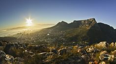 Table Mountain Sunrise by Barend Van Der Watt