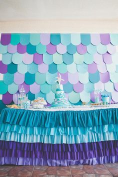 Under the Sea 1st birthday party via Kara's Party Ideas KarasPartyIdeas.com Printables, cake, invitation, decor, recipes, cupcakes, favors, ...