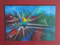 Modern Schilderij Gebroken glas 60x80x3