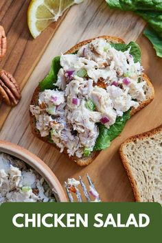 If you need a quick and simple recipe for a potluck, barbecue, picnic, or lunch for yourself, you need to make this Chicken Salad! It is a classic recipe that works for any occasion and only requires 10 simple ingredients. Try this for an amazing treat your entire family will love! #potluck #partyfood #chickenrecipes Lunch Snacks, Lunch Recipes, Healthy Recipes, Healthy Meals, Yummy Recipes, Yummy Food, Rotisserie Chicken Uses, Healthy Comfort Food, Healthy Eating