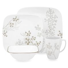 The calmness of an open meadow has inspired the contemporary, silhouette pattern of this dinnerware. The neutral, khaki color palette of the dinnerware combines with the fashionable, wild grass motif to bring serenity to your table decor.