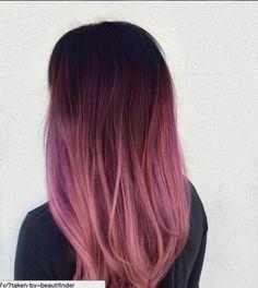 hair inspiration purple 120 new ideas hair color b - hairinspiration Dark Pink Hair, Pastel Hair, Ombre Hair Color, Cool Hair Color, Purple Ombre, Dark Ombre, Rose Gold Ombre, Plum Purple, Pink Lila