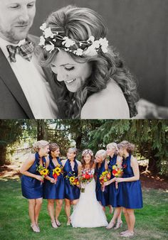 navy blue for the bridesmaids dress is exactly what mine will be.