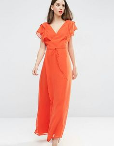 ASOS Frill Wrap Maxi Dress C$109.70c$65.82