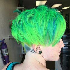 grüne Farbe kurze Frisur 2016