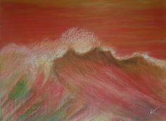 Técnica mixta s/ madera. Tamaño 80x60 cm.  #acrylicpaintings #surfart #almonsurfart #seascapes #pontevedra #riasbaixas #seawaves #wavepaintings #olas #playas