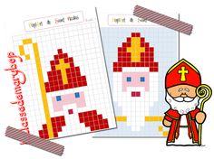 PixelArt de Saint Nicolas Last Christmas, Christmas Crafts, Christmas Ornaments, Pixel Art, Catholic Religion, 2d Art, Edd, Craft Activities, Art Education