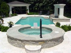 classic swimming pool with patio | Classic Pool Designs ...