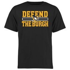 Pittsburgh Penguins Black Defend T-Shirt