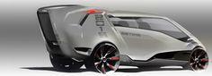 Toyota Estima Minivan Concept by Anthony Colard - Design Sketch Car Design Sketch, Truck Design, Car Sketch, Armored Vehicles, Armored Car, Toyota Cars, Futuristic Cars, Small Cars, Transportation Design