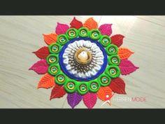 very easy rangoli design for festival diwali/rangoli by jyoti Very Easy Rangoli Designs, Free Hand Rangoli Design, Rangoli Patterns, Rangoli Ideas, Colorful Rangoli Designs, Rangoli Designs Diwali, Diwali Rangoli, Beautiful Rangoli Designs, Zentangle Patterns