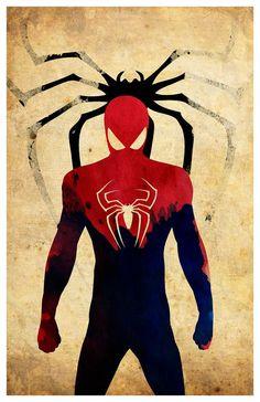 Minimalist Superhero Poster Spiderman par MINIMALISTPRINTS sur Etsy