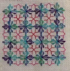 Wessex Stitchery by Kath Morton Diy Embroidery Patterns, Blackwork Patterns, Stitch Patterns, Cross Stitching, Cross Stitch Embroidery, Hand Embroidery, Needlepoint Stitches, Needlework, Free Swedish Weaving Patterns