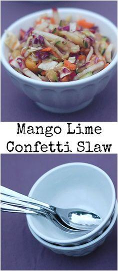 Easy Vegan Mango Lime Confetti Slaw