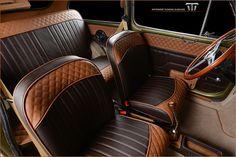 Car Interior Upholstery, Automotive Upholstery, Fiat 600, Custom Car Interior, Truck Interior, Vw Bugs, Volkswagen Beetle Vintage, Bronco Truck, Honda Scrambler