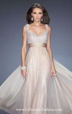 Sweetheart Chiffon Gown by La Femme 20203