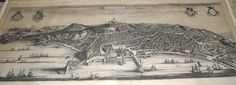 """""""Naples"""" - etching by P. Mortier, Amsterdam 1705 - National Library of Naples 