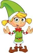 Clipart of Girl Elf In Green Character k23199235 - Search Clip Art, Illustration Murals, Drawings and Vector EPS Graphics Images - k23199235.eps
