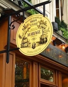 MARIAGE FRÈRES  ~ The  temple of tea in the Marais, Paris. A magical shop with every imaginable variety of tea, and a wonderful tea salon.