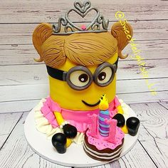 Princess Minion Cake