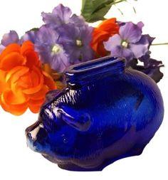 Cobalt Glass, Cobalt Blue, Amber Glass, New Blue, Blue And White, Pig Bank, Glass Shoes, Himmelblau, Duck Egg Blue