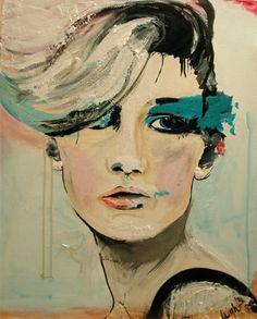 acrylic painting portrait
