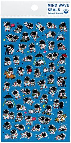 74004a6142 Mind Wave Astronaut World Glossy Sticker Sheet