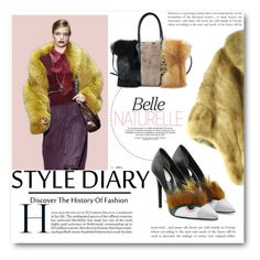 """Fur Style Diary"" by fashionconnery ❤ liked on Polyvore featuring Fendi and Moschino"