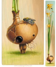 Adorably Strange Plant Creatures by Kristin Tercek (Daffadown Dilly)